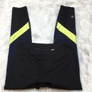 Athleta Colorblock Spliced Sonar 7/8 Tight Legging